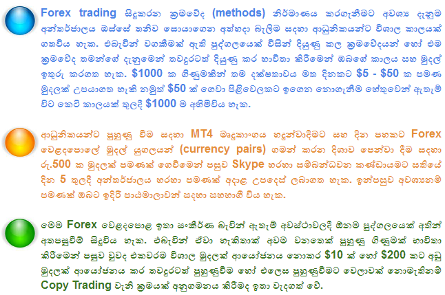 Forex trading learning in sinhala