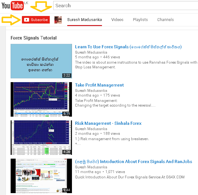 Ranrahas Youtube Forex Channel of Suresh